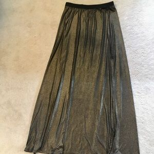 Subtle dark gold maxi skirt